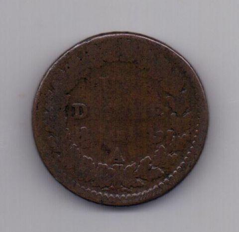 Десим - 10 сантим LAN 5 -1796 года Франция