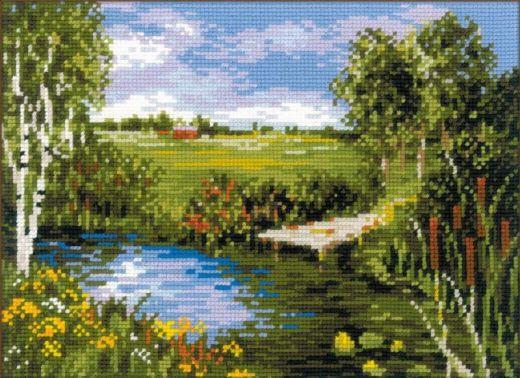 Набор для вышивания крестом У реки №1468 фирма Риолис