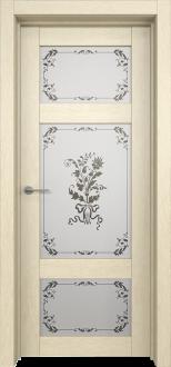 Межкомнатная дверь L 16 стекло Фрезия