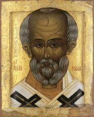 Икона Святитель Николай (Николай Чудотворец) 16 век
