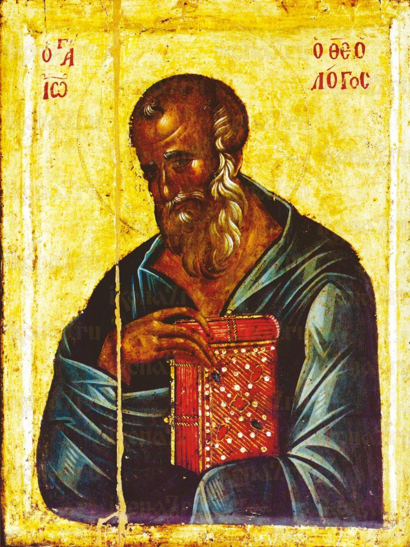 Икона Иоанн Богослов апостол (Византия 14 век)