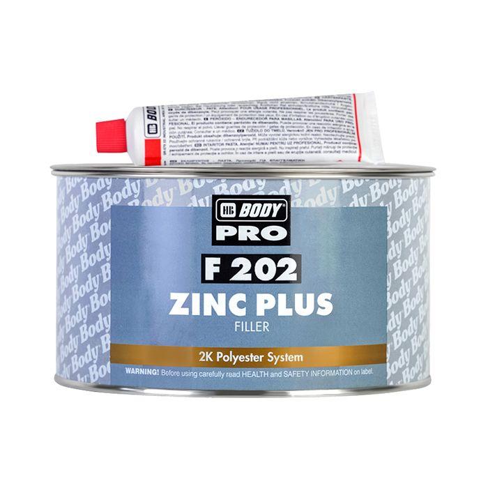 """HB Body Шпатлевка PRO F202 ZINC PLUS, название цвета """"Бежевый"""", объем 1,8кг."""
