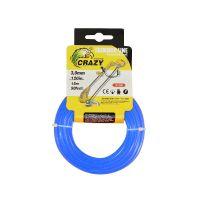 Леска для триммера Crazy Stone диаметр 3 мм (цвет синий)