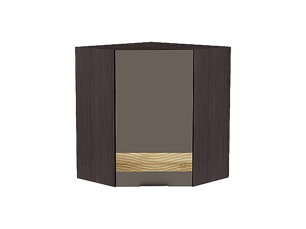 Шкаф верхний угловой Терра ВУ590 D (Смоки софт)