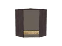 Шкаф верхний угловой Терра ВУ590 D в цвете Смоки софт