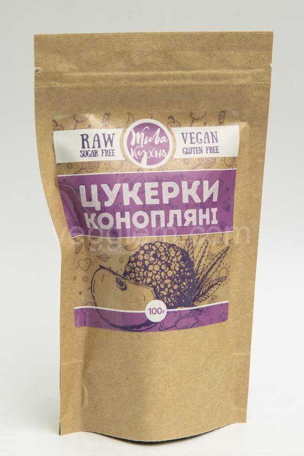 Сыроедческие конфеты Живая Кухня «Конопляные» (100 грамм)