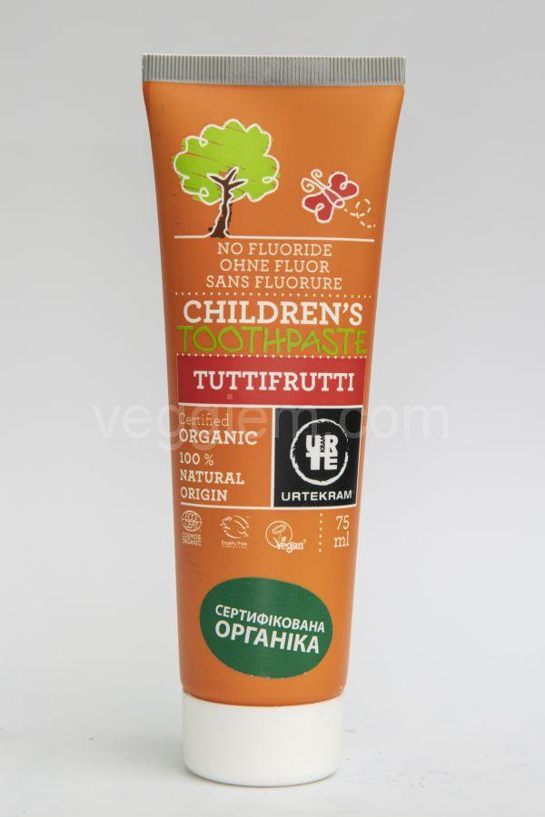 Органическая Детская  зубная паста Tutti Frutti Urtekram,75мл