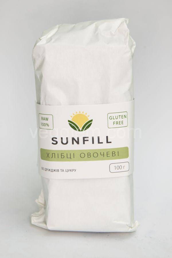 Сыроедческие хлебцы Овощные Sunfill, 100 грамм
