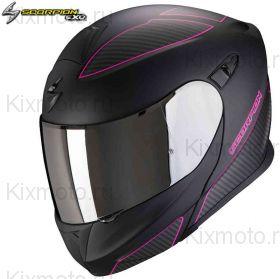 Шлем Scorpion EXO 920 Flux, Черный матовый с розовым