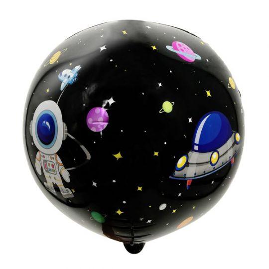 Космос сфера 3D шар фольгированный с гелием
