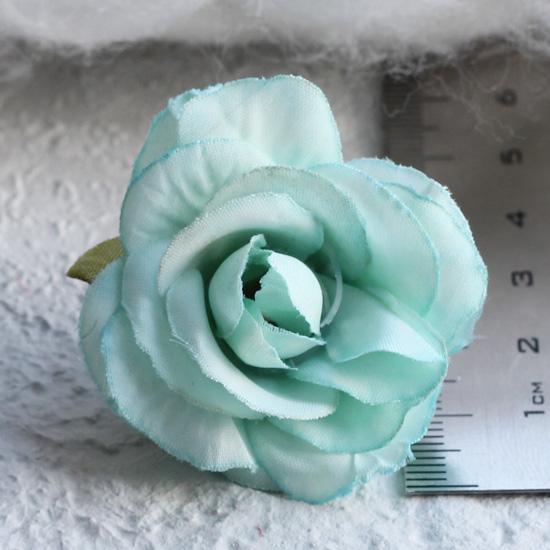 Тканевый цветок Мятный 2,5см