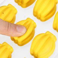 Форма для льда силиконовая Бананы (цвет жёлтый)_4