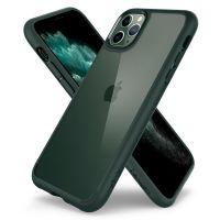 Купить оригинальный чехол Spigen Ultra Hybrid для iPhone 11 Pro зеленый прозрачный чехол для Айфон 11 Про в Москве в интернет магазине аксессуаров для смартфонов elite-case.ru