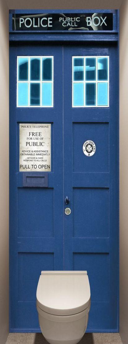 Фотообои в туалет - Police Box