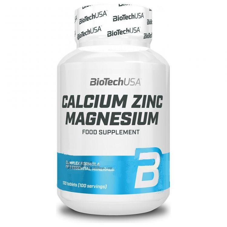 Calcium Zinc Magnesium от BioTech USA 100 таб