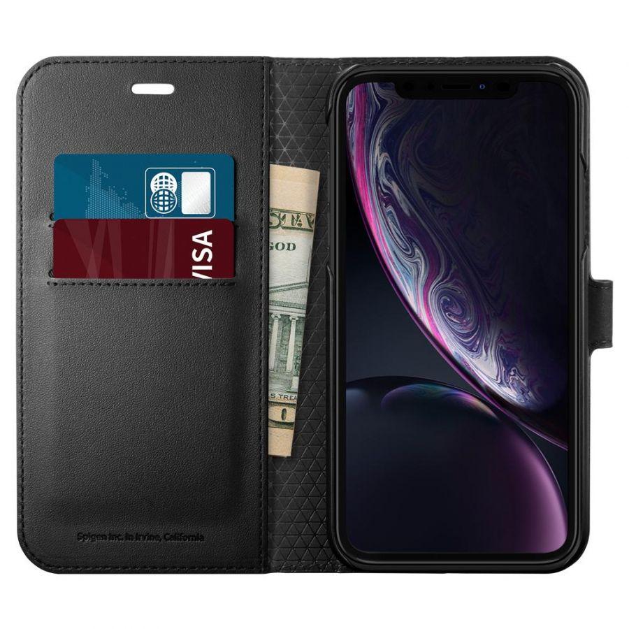 Чехол SGP Spigen Wallet S для iPhone XR черный