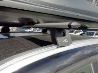 Багажник на крышу BMW X1 F48 2015-..., Lux, крыловидные дуги на интегрированные рейлинги