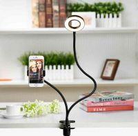 Гибкая светодиодная кольцевая лампа с держателем смартфона Professional Live Stream_2