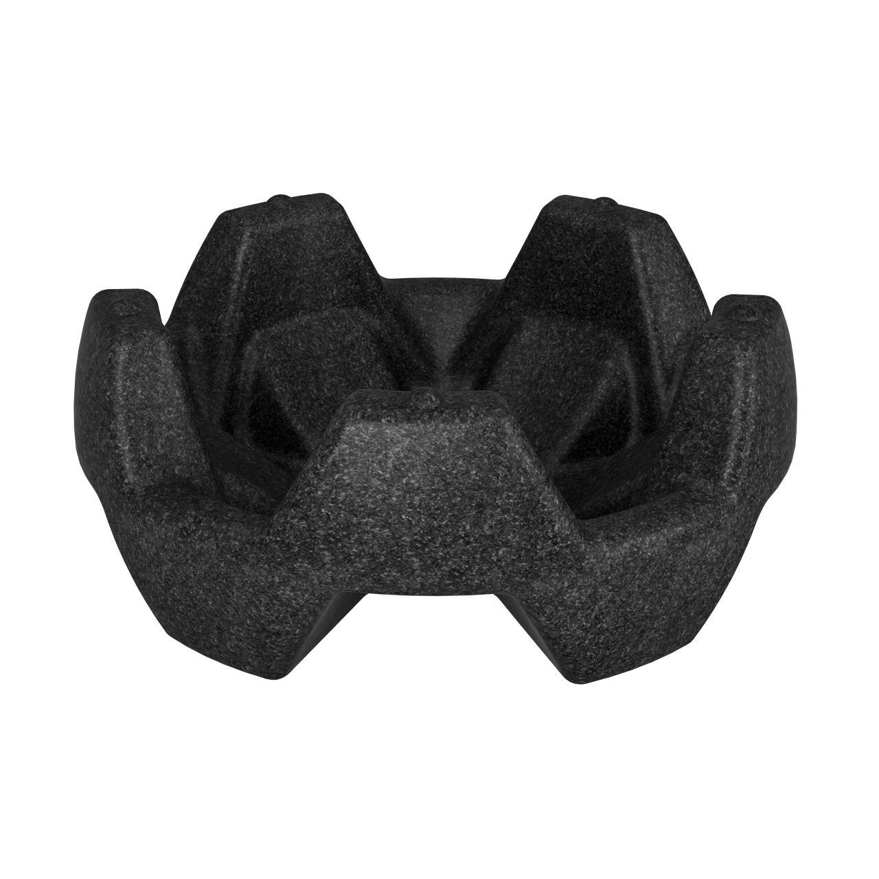 Вазон пластиковый FLOX черный гранит