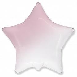 Шар (32''/81 см) Звезда, Розовый, Градиент, 1 шт., Flexmetal