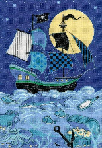 Набор для вышивания крестом Пиратский корабль №1511 фирма Риолис