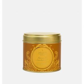 """Шотландская ароматическая свеча """"Какао и Сандаловое дерево """" в оловянной тубе COCOA AND SANDALWOOD LARGE TIN"""
