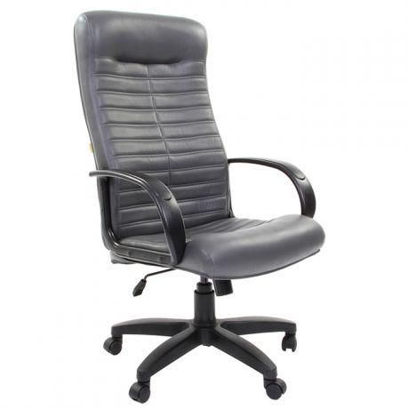 Кресло руководителя Chairman 480 LT, экокожа серая, механизм качания