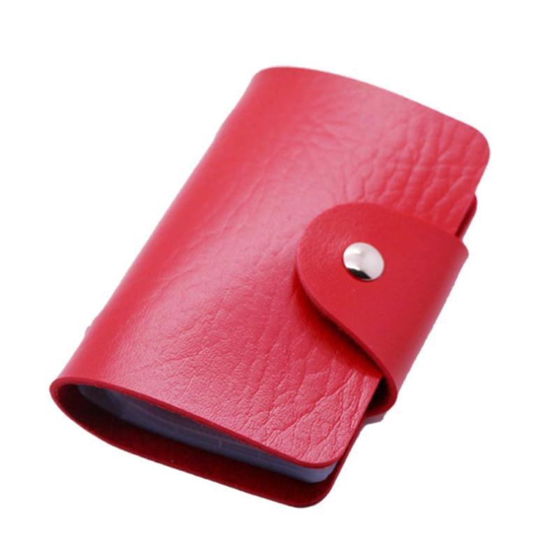 Кредитница-Визитница на 24 карты (цвет красный)