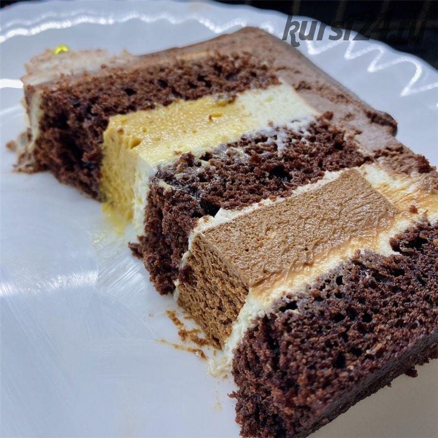 [Кондитерка] Торт «Шоколадный мусс-воздушная карамель» (buenocake)