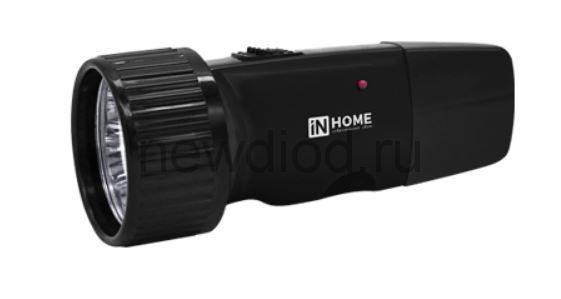 Фонарь ручной аккумуляторный MLA 01-B 5LED 120Lm 6ч 2 режима, з/у 230В ЧЕРНЫЙ  IN HOME