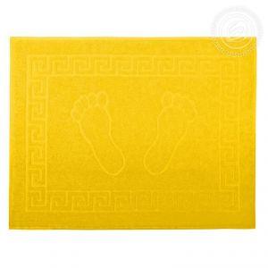 "Махровое полотенце Ножки ""АРТ Дизайн"" Жёлтый размер 50 х 70"