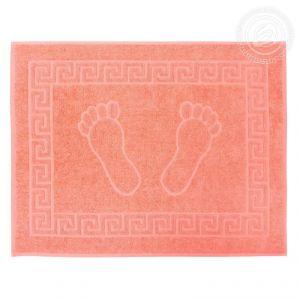 "Махровое полотенце Ножки ""АРТ Дизайн"" Персик размер 50 х 70"