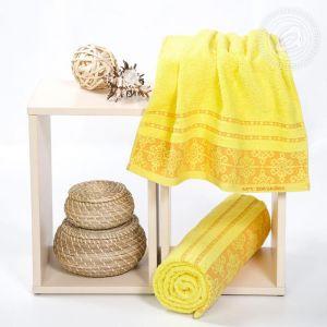 """Набор полотенец махровых """"Орнамент"""" ярко-желтый размер Набор из 2 штук"""
