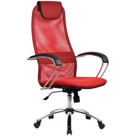 """Кресло руководителя Метта """"Business"""" BK-8 CH, ткань-сетка, механизм качания"""