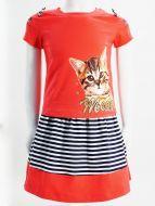 Комплект для девочки с юбочкой 3-7 лет ВК970КР малиновый