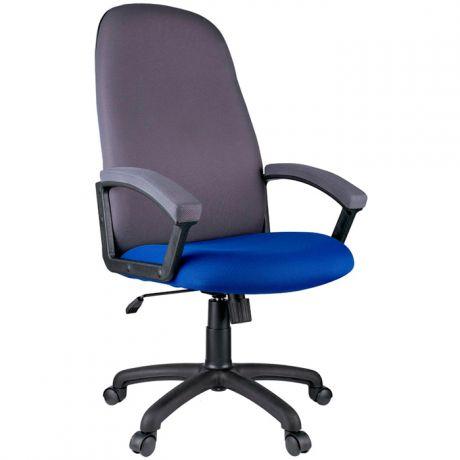 """Кресло руководителя Helmi HL-E79 """"Elegant"""", ткань TW синяя/серая"""