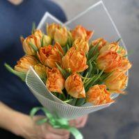 Тюльпаны 19 шт (рыжие)