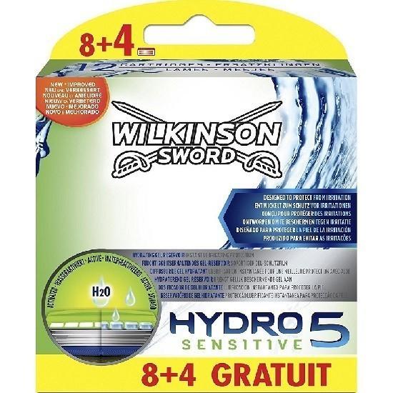 Кассеты бритвенные для станка Schick / Wilkinson Sword Hydro5 Sensitive, 12 штук