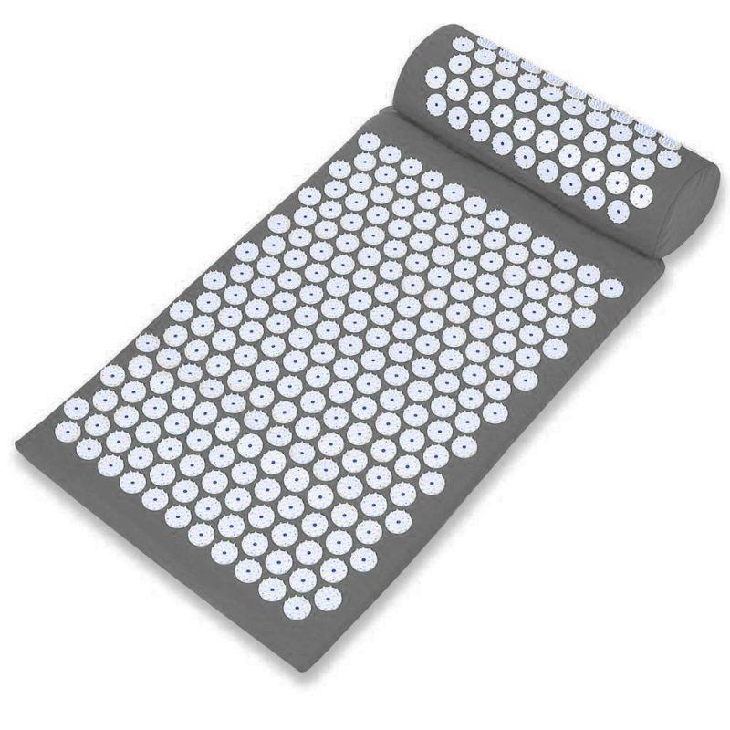 Акупунктурный массажный комплект Acupressure Mat (цвет серый)