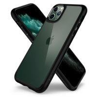 Купить оригинальный чехол Spigen Ultra Hybrid для iPhone 11 Pro Max черный прозрачный чехол для Айфон 11 Про Макс в Москве в интернет магазине аксессуаров для смартфонов elite-case.ru