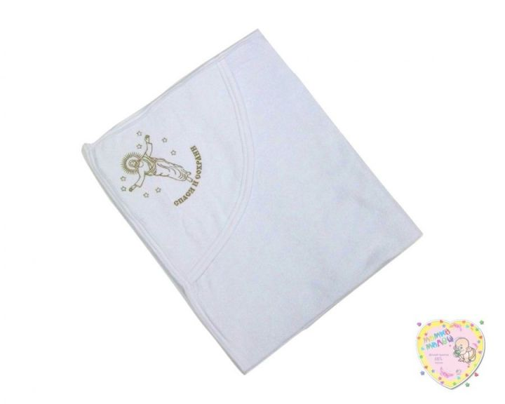 Крестильное полотенце с уголком (махра, Иисус)