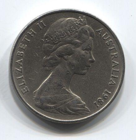 20 центов 1981 года Австралия