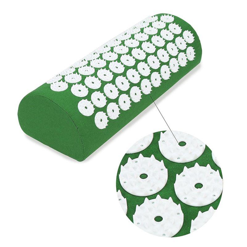 Акупунктурный массажный валик Acupressure Mat (цвет зелёный)