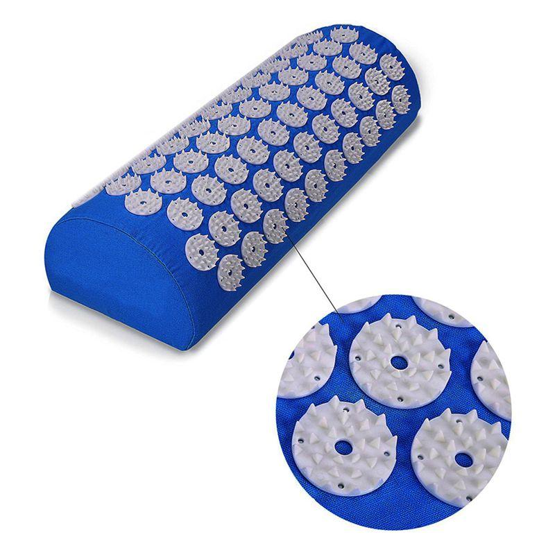 Акупунктурный массажный валик Acupressure Mat (цвет синий)