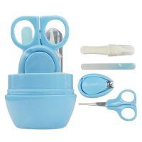 Детский маникюрный набор Baby four set nail scissors (цвет голубой)_3
