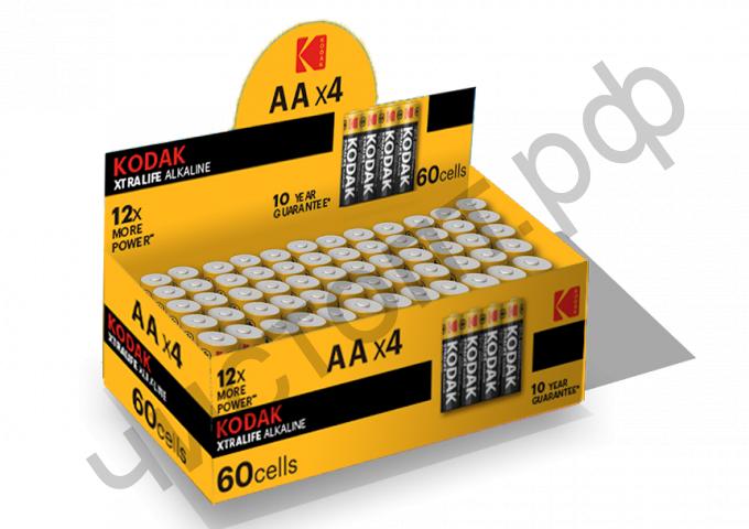 KODAK LR6 XTRALIFE (4SP) colour box (60)