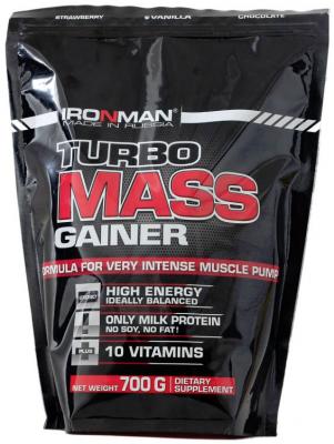 Гейнер Ironman Турбо Масс 700 г.  Вкус шоколад