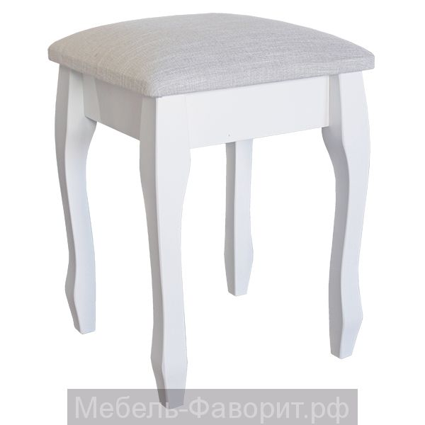 """ТАБУРЕТ """"ЭЛЕГАНС"""" БЕЛЫЙ"""