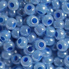 Бисер чешский 37136 непрозрачный светло-голубой Preciosa 1 сорт
