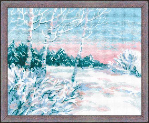 Набор для вышивания крестом Зимнее утро №1541 фирма Риолис